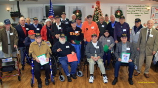 On Saturday, December 9th, VFW Calabash Post #7288 hosted its thirteenth annual dinner party to honor 27 World War II veterans and their guests and in