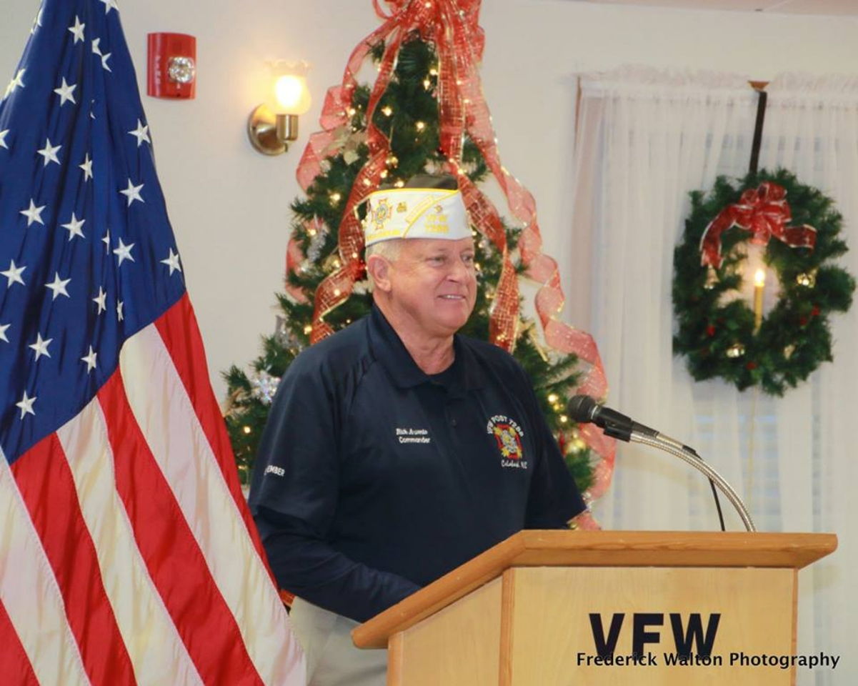 VFW Calabash Post #7288 Commander, Rick Arvonio, Opening the Ceremoney to Honor WWII Veterans & Pearl Harbor Remembrance Dinner Dance on Saturday, December 9th, 2017.