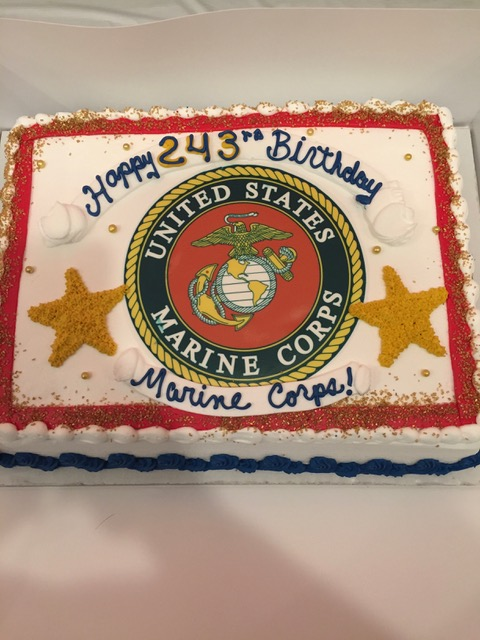 Celebrating the US Marine Corp Birthday at the Post Nov 10th.